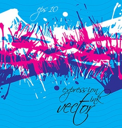 grungy watercolor shaded painting expressive messy vector image