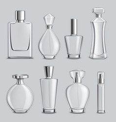 perfume glass bottles realistic set vector image vector image