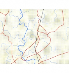 halftone map vector image
