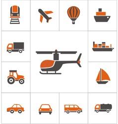 transportation logo vector image vector image