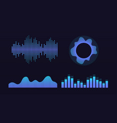 wave of sound virtual graphic equalizer vector image