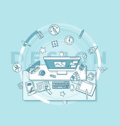 About work a designer vector