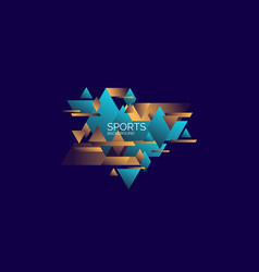 Abstract geometric background sports poster with vector