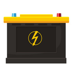 accumulator battery icon cartoon style vector image