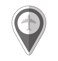 Airport location traffic signal information icon vector