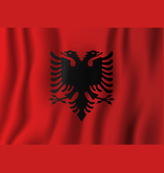albania realistic waving flag national country vector image