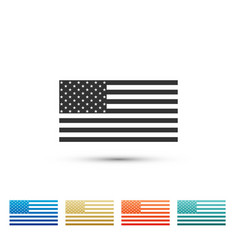 American flag icon isolated flag of usa vector