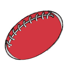 American football ball cartoon vector