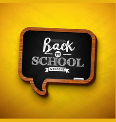 Back to school design with chalkboard vector