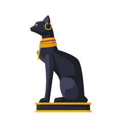 bastet ancient egyptian goddess black egyptian vector image
