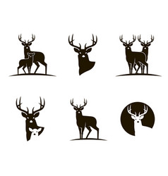 black deer emblems vector image
