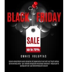 Black friday poster background vector image
