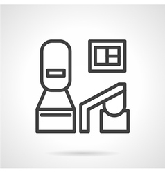 Black line medical equipment icon vector image