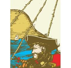 Blackbeard the Pirate vector image