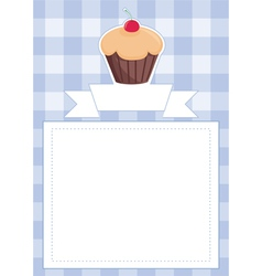 Blue restaurant menu card baby shower list vector image