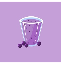 Blueberry Smoothie Cartoon vector