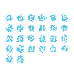 bubble alphabet collection set graphic design vector image