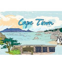 cape town doodles vector image vector image