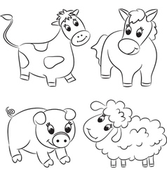 Cartoon domesticated animal vector