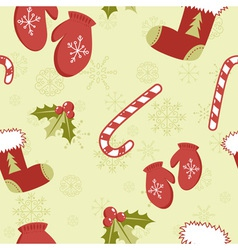 Christmas seamless green vector image