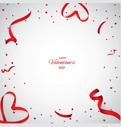 christmas valentine s day red confetti with vector image
