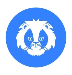 Circus lion icon in black style isolated on white vector