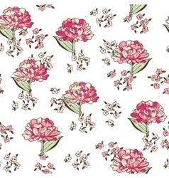 colorful floral seamless pattern vector image