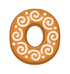 Cookies in shape letter o vector