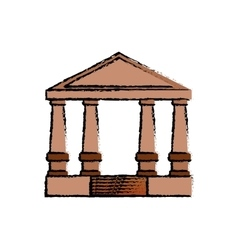 Court building symbol vector image