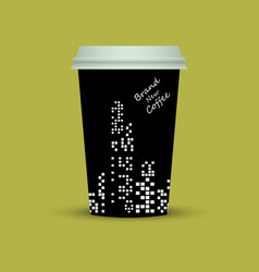 creative coffee with brand new coffee text vector image