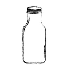 cristal bottle isolated icon vector image