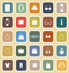 Dressing flat icons on brown background vector image