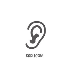 ear icon simple flat style vector image