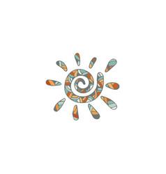 Ethnic sun vector