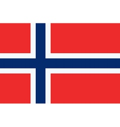 Flag of the Norway vector