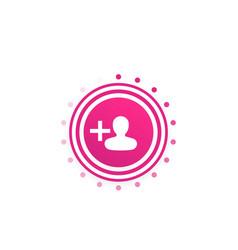 Follow round button vector