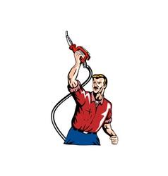 Gasoline Attendant Fuel Pump Nozzle vector