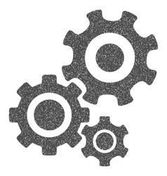 Gear Mechanism Grainy Texture Icon vector