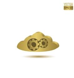 Golden cloud vector image