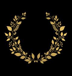 Golden wreath vector