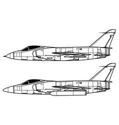grumman f11f tiger vector image