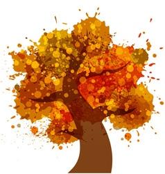 Grunge autumn tree icon vector