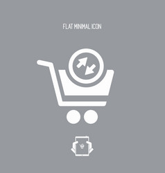 Import-export store flat icon vector