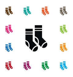 isolated socks icon hosiery element can be vector image vector image
