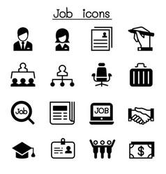 job employment icon set vector image