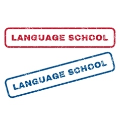 Language School Rubber Stamps vector