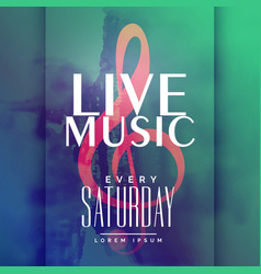 live music event poster design template vector image