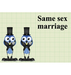Male same sex marriage vector