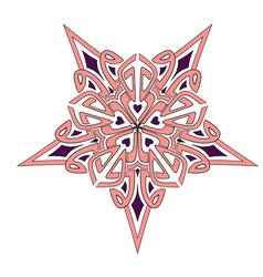 mandala geometry star pink-burgundy vector image
