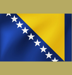 national flag bosnia and herzegovina for vector image